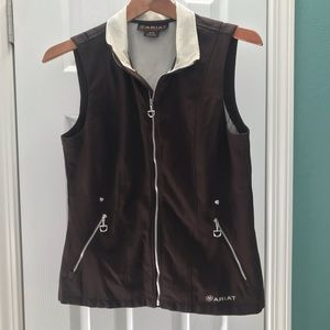 ARIAT Vest, Softshell, Dark Brown, Size Medium